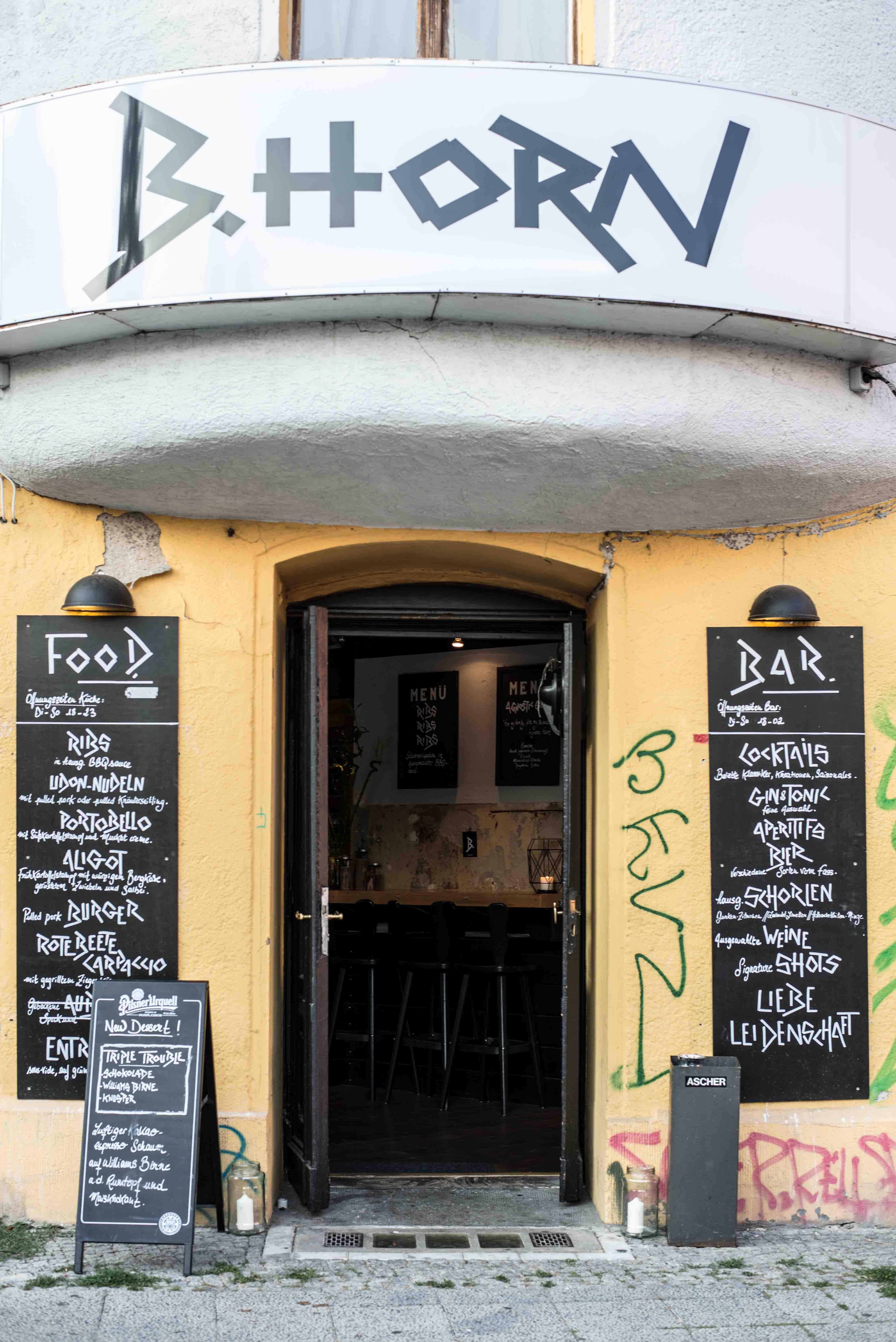 Das Restaurant B.Horn in Berlin Neukölln