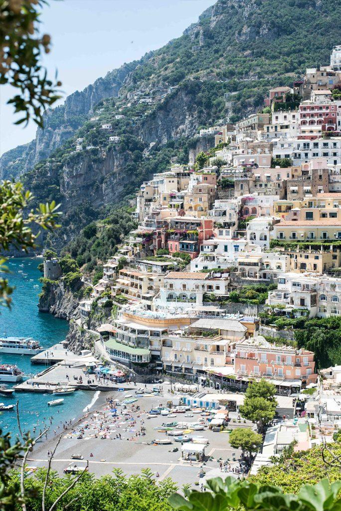 Positano an der Amalfiküste in Italien