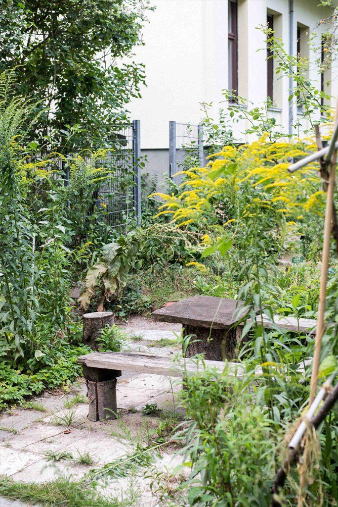 Permakulturgarten im Café Botanico in Berlin-Neukölln