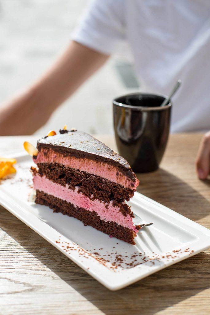 Veganen Kuchen essen im Siggis in München