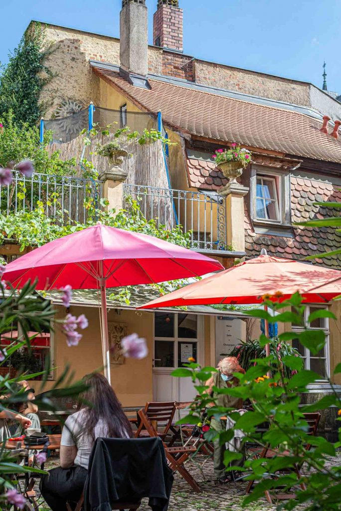 Hinterhof des Cafés Backstübla in Bamberg