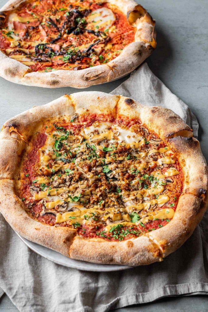 Vegane Pizza von Dr. Drooly in München