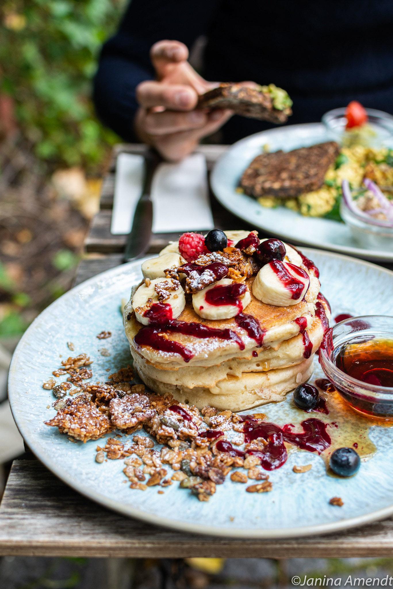 Vegane Pancakes im Emmi's Kitchen in München