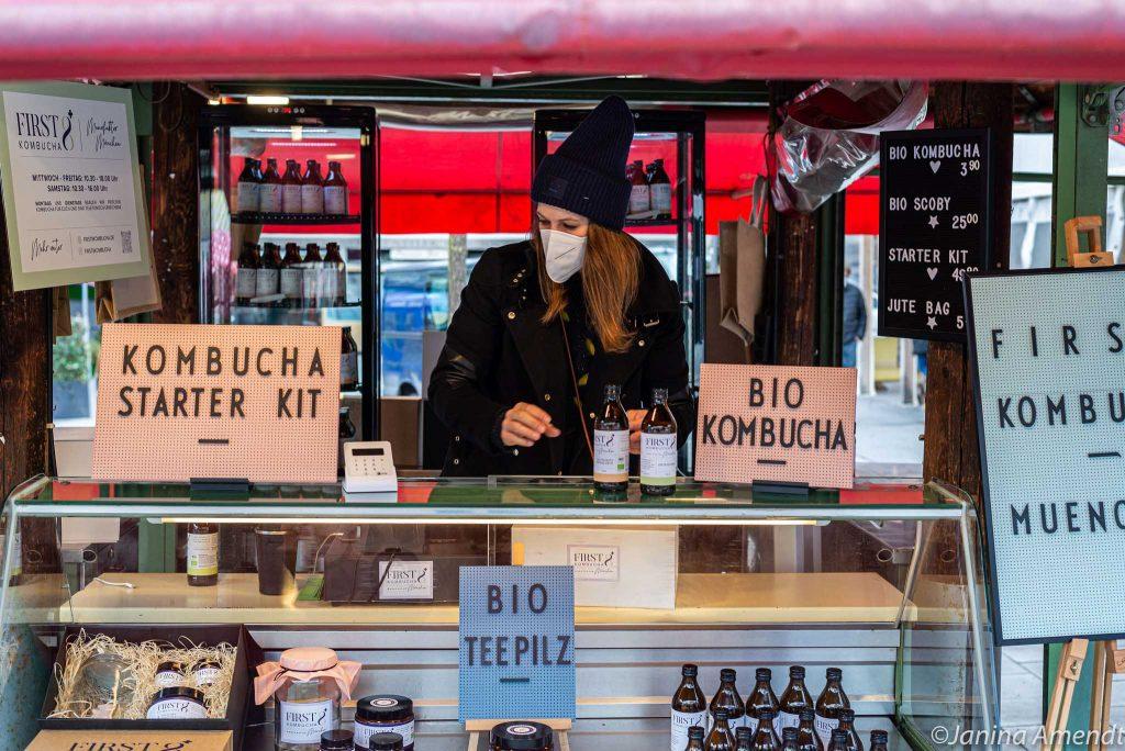 First8 Kombucha auf dem Viktualienmarkt